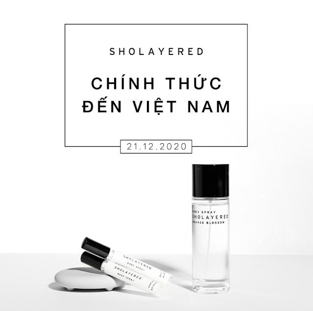 Nước hoa Sholayered đến Việt Nam vào ngày 21/12/2020