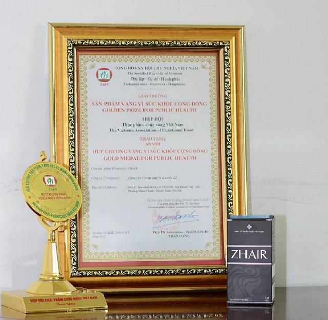 Sản phẩm Zhair được cấp giấy chứng nhận