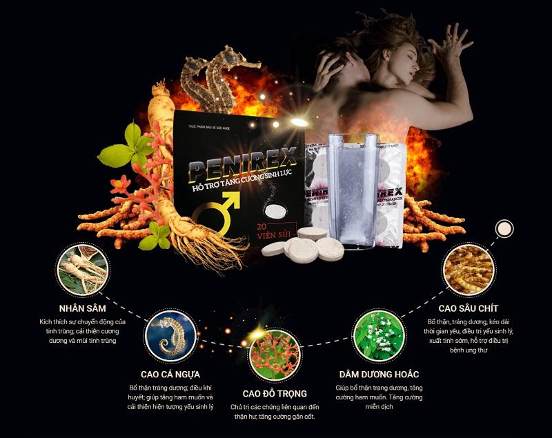 Sản phẩm được kiến tạo nên từ các thành phần dược liệu quý có công dụng tốt cho sinh lý