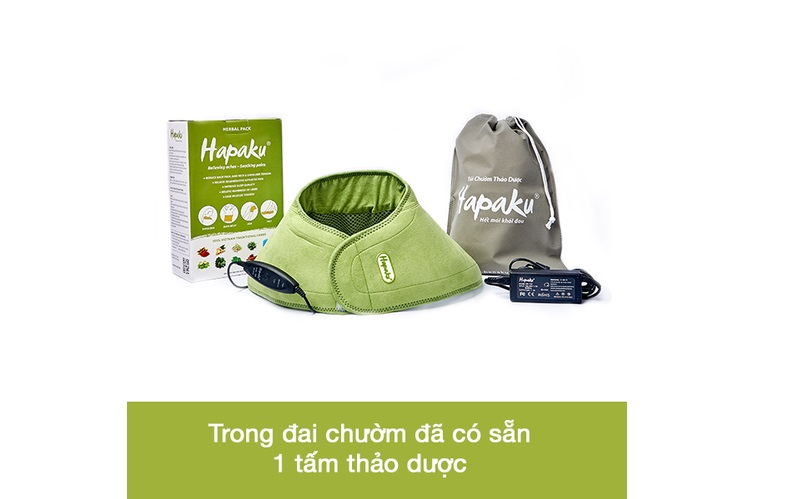 Sử dụng đai, túi chườm thảo dược HAPAKU rất thoải mái với mùi thơm nhẹ