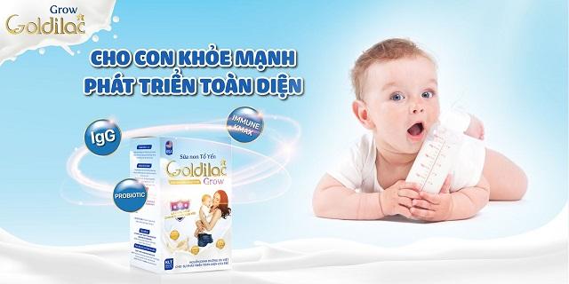 Sữa non Goldilac Grow giúp con phát triển toàn diện