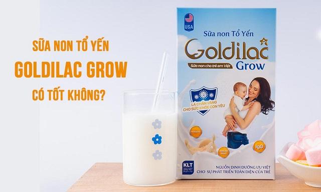 Sữa non Goldilac Grow tổ yến có tốt không?
