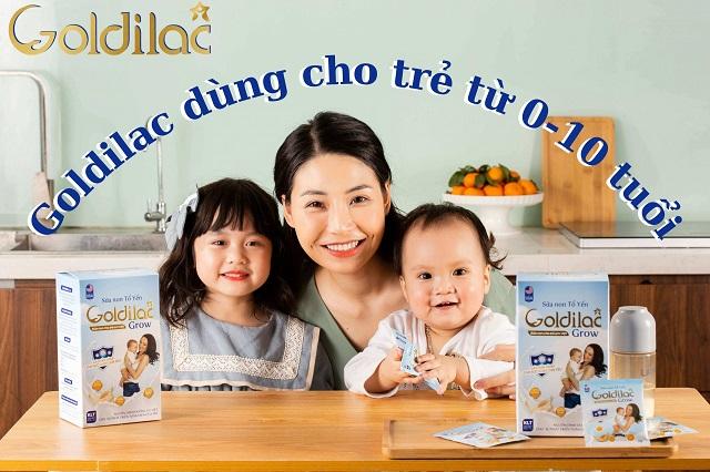 Sữa non Goldilac Grow tổ yến phù hợp với trẻ từ 0 - 10 tuổi