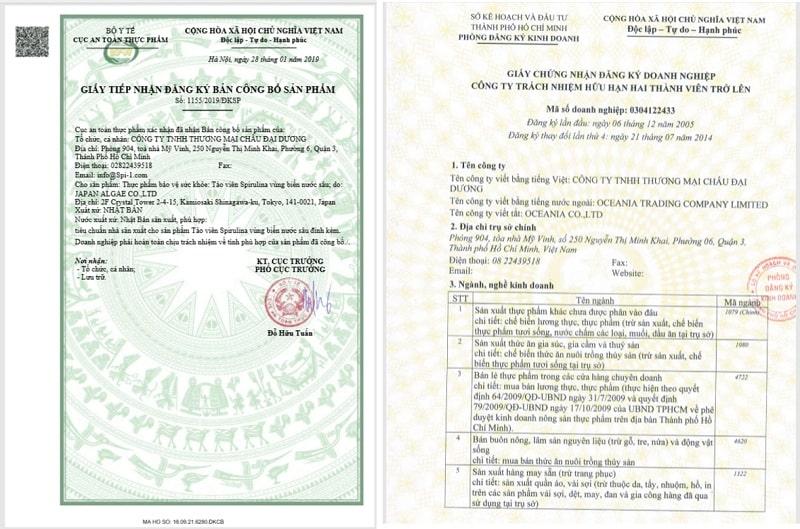 Tảo Spirulina Spimate được Công ty TM Châu Đại Dương phân phối tại thị trường Việt Nam