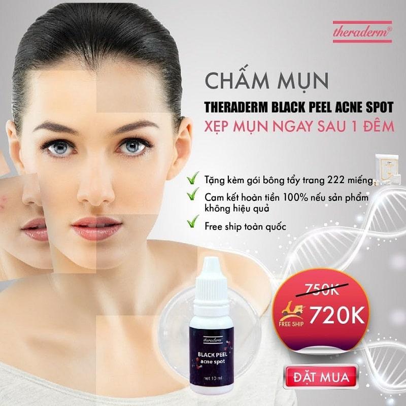 Thông tin tổng quan về serum trị mụn Theraderm đang gây sốt thị trường hiện nay
