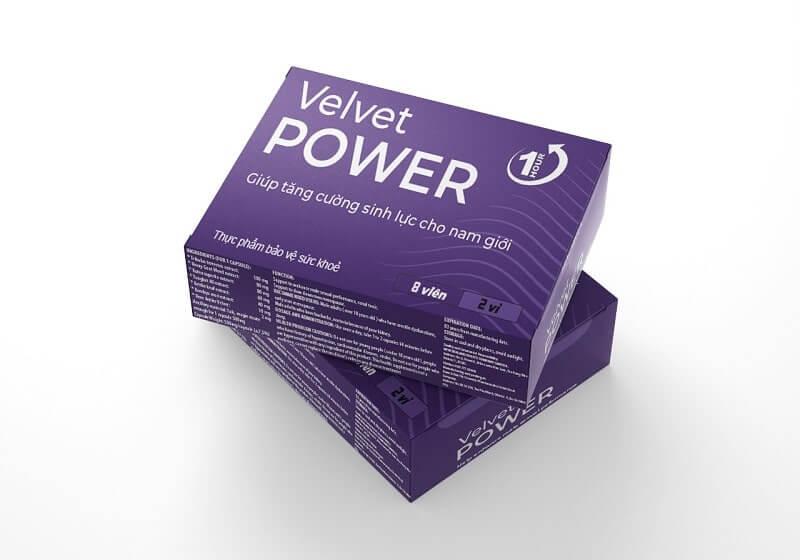 Thực phẩm chức năng sinh lý Velvet Power 1H (viên uống một lần) có những thành phần nổi bật nào?