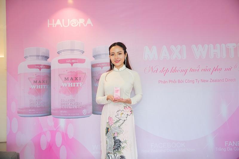 Viên uống trắng da Maxi White giúp làn da trắng hồng, rạng rỡ, ngăn ngừa lão hóa da