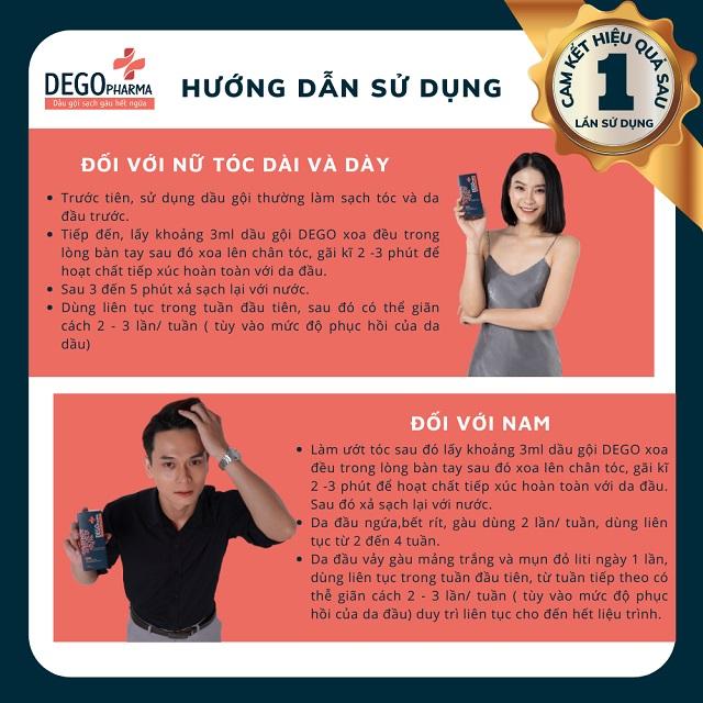 Hướng dẫn sử dụng chi tiết dầu gội Dego Pharma từ nhà sản xuất