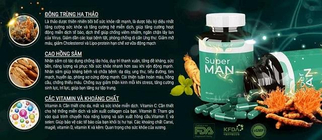 Một số thành phần chính nổi bật đáng chú ý có trong viên uống tổng hợp vitamin