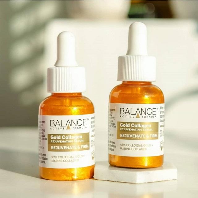 Serum Balance Gold Collagen có khả năng chống lão hóa, nâng cơ, giảm nhăn