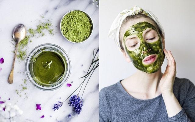 Sử dụng bột rau má đắp mặt đem đến làn da bóng mịn, sạch mụn